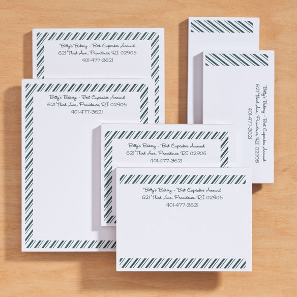 Personalized Diagonal Stripes Business Notepads Refill Set of 6 - View 4