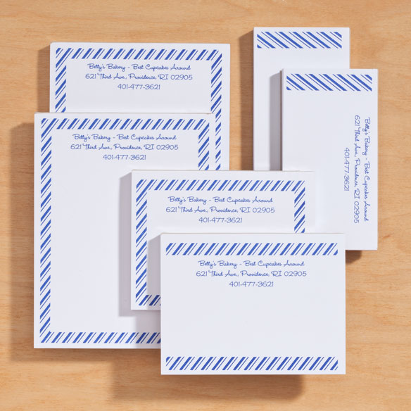 Personalized Diagonal Stripes Business Notepads Refill Set of 6 - View 5