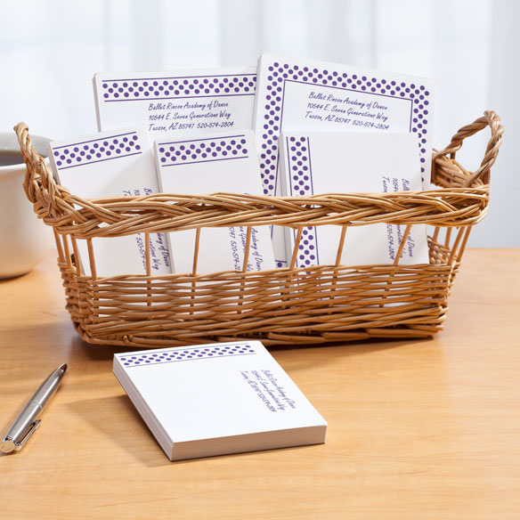 Personalized Polka Dots Business Basketful of Notepads - View 2