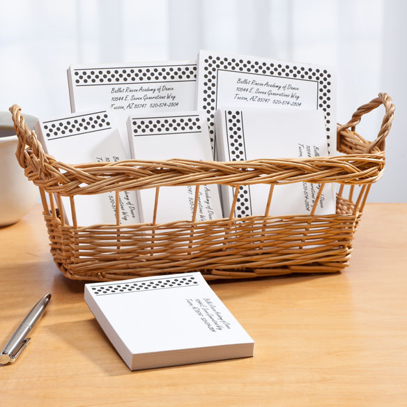 Personalized Polka Dots Business Basketful of Notepads - View 5