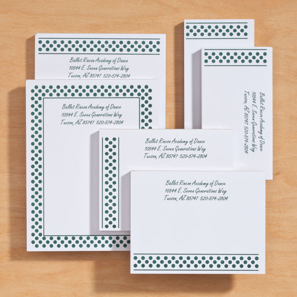Personalized Polka Dots Business Notepads Refill Set of 6 - View 3