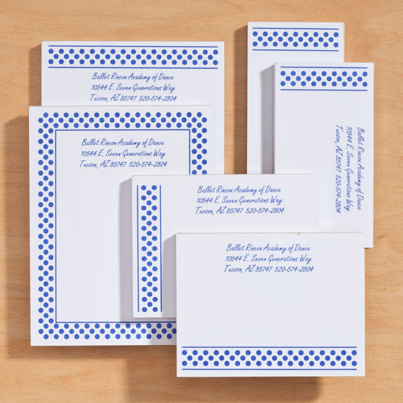 Personalized Polka Dots Business Notepads Refill Set of 6 - View 4