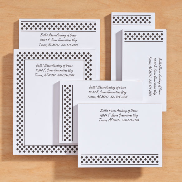 Personalized Polka Dots Business Notepads Refill Set of 6 - View 5