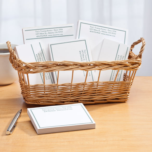 Personalized Classic Business Basketful of Notepads - View 2