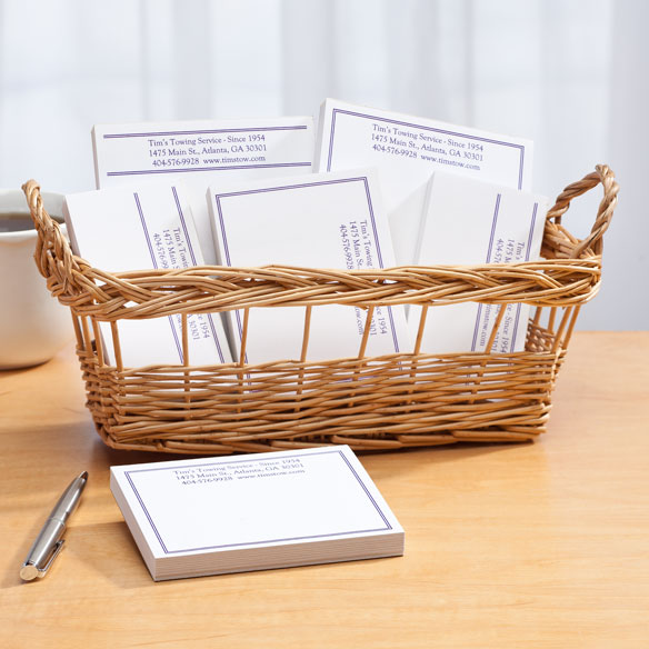 Personalized Classic Business Basketful of Notepads - View 3