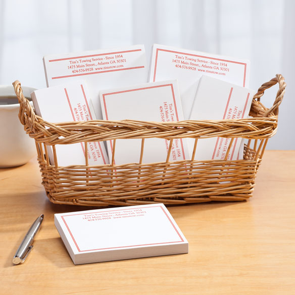 Personalized Classic Business Basketful of Notepads - View 4