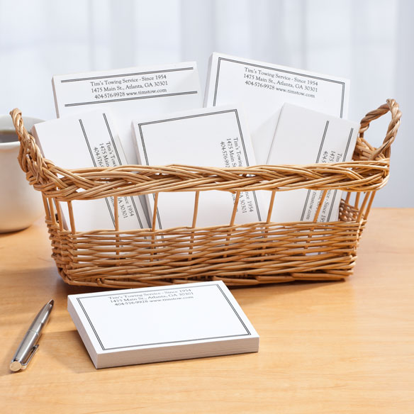 Personalized Classic Business Basketful of Notepads - View 5