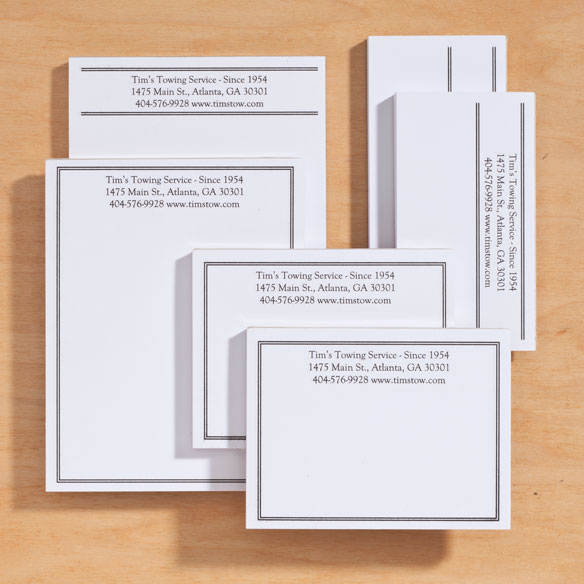 Personalized Classic Business Notepads Refill Set of 6 - View 5