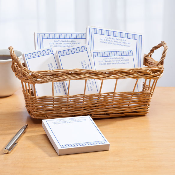 Personalized Vertical Stripes Business Basketful of Notepads - View 2