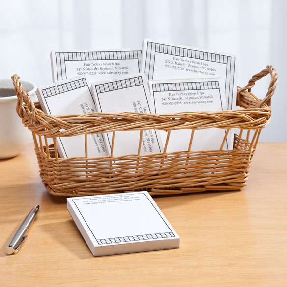 Personalized Vertical Stripes Business Basketful of Notepads - View 3