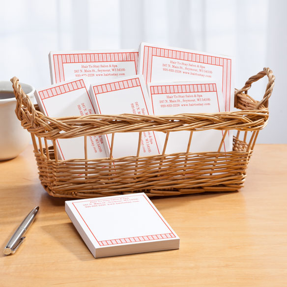 Personalized Vertical Stripes Business Basketful of Notepads - View 4