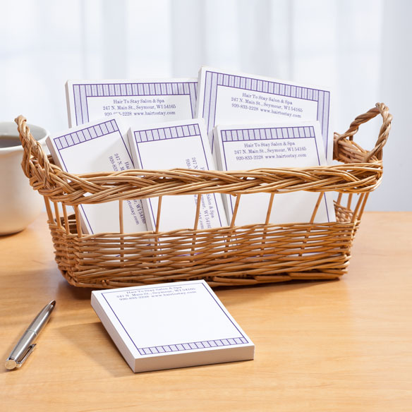 Personalized Vertical Stripes Business Basketful of Notepads - View 5