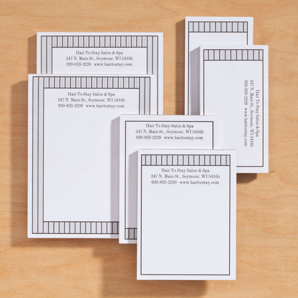 Personalized Vertical Stripes Business Notepads Refill Set of 6 - View 3