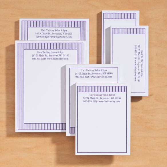 Personalized Vertical Stripes Business Notepads Refill Set of 6 - View 5
