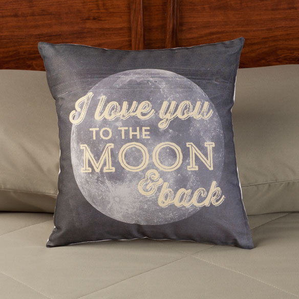 I Love You to the Moon and Back Pillow - View 2