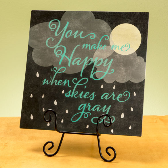 """You Make Me Happy"" Wall Plaque - View 2"