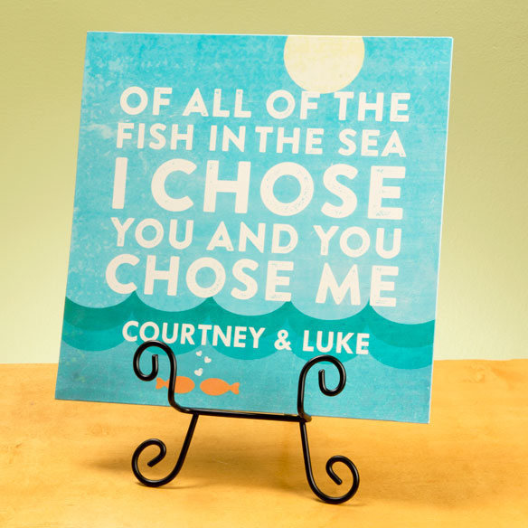 "Personalized ""I Chose You"" Fish Wall Plaque - View 2"