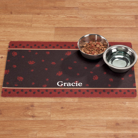 Personalized Paw Print Pet Mat - View 2