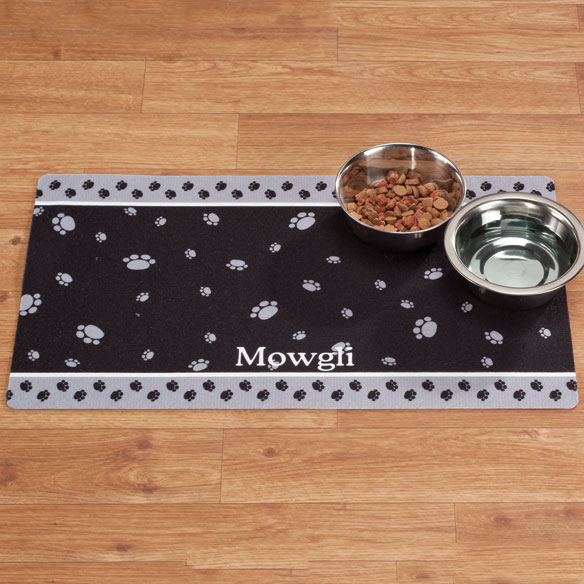 Personalized Paw Print Pet Mat - View 3