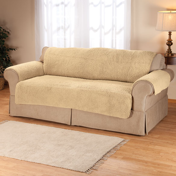 Sherpa Sofa Protector By Oakridge Comforts Couch Cover