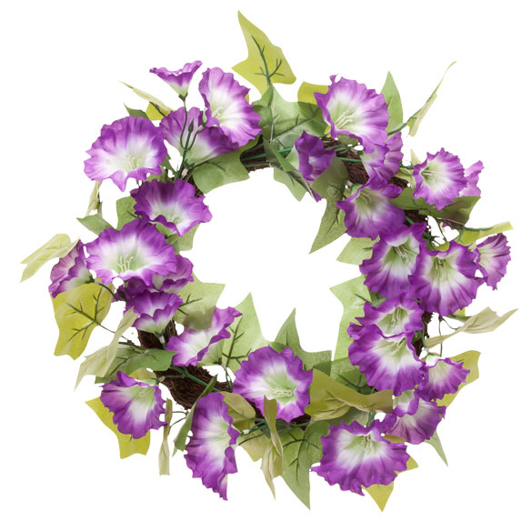 "16"" Petunia Wreath - View 2"