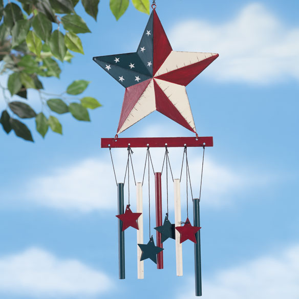 Barn Star Wind Chime by Maple Lane Creations - View 2