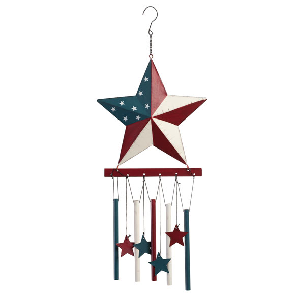 Barn Star Wind Chime by Maple Lane Creations - View 3