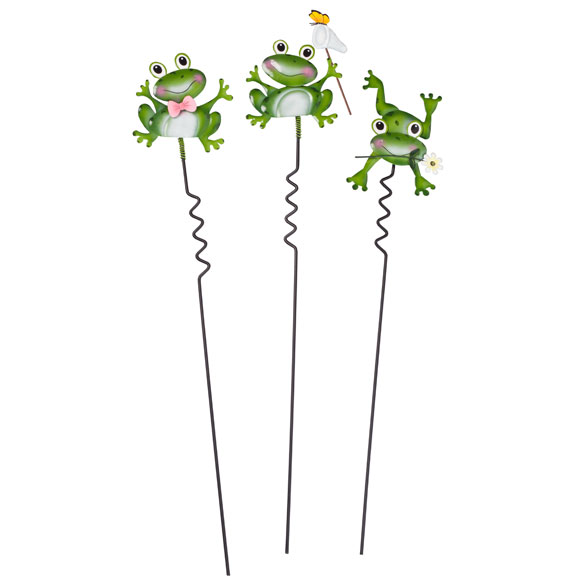 Frog Lawn Stakes by Maple Lane Creations - Set of 3 - View 2