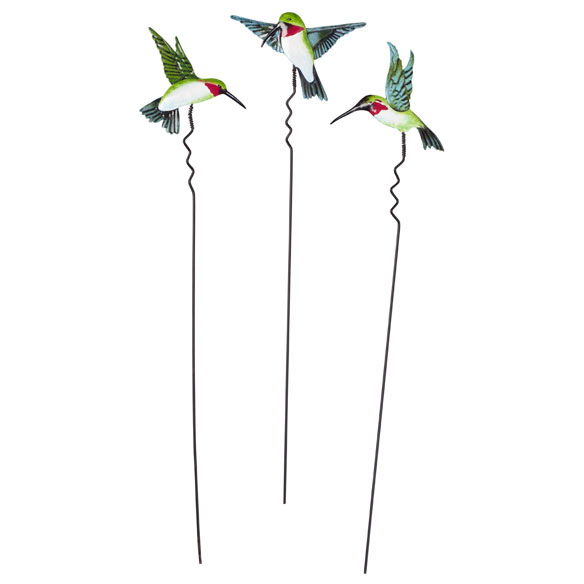 Hummingbird Lawn Stakes by Maple Lane Creations - Set of 3 - View 2