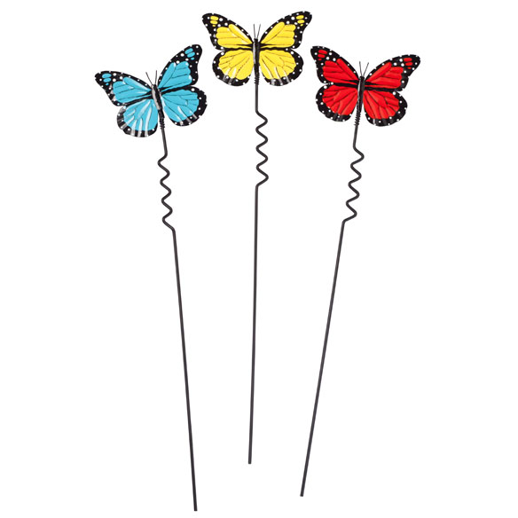 Butterfly Lawn Stakes by Maple Lane Creations - Set of 3 - View 2