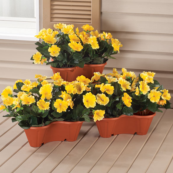Stackable Planters, Set of 3 - View 2