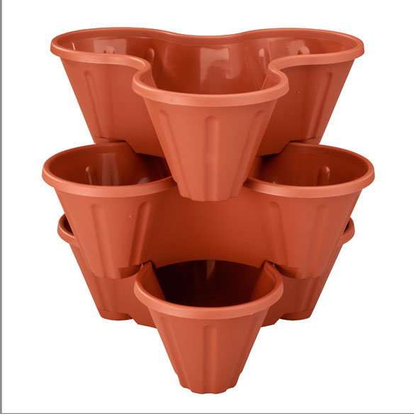 Stackable Planters, Set of 3 - View 3