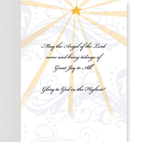 Joyous Angel Trio Non Personalized Christmas Card, Set of 20 - View 3
