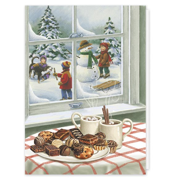 Sweet Greetings Non Personalized Christmas Card Set Of 20