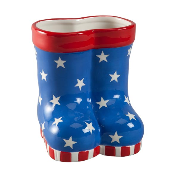 Patriotic Rain Boots Planter - View 3