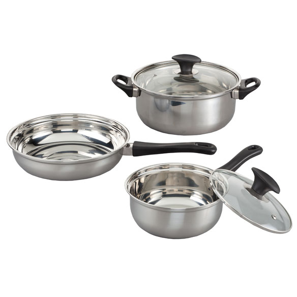 5-pc. Stainless Steel Cookware Set - View 2