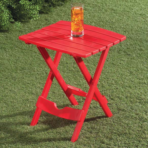 Bright Outdoor Folding Side Table - View 2