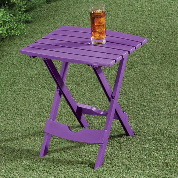 Bright Outdoor Folding Side Table - View 5