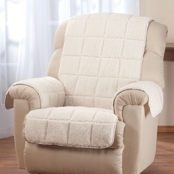 Waterproof Quilted Sherpa Recliner Protector by OakRidge Comforts™ - View 2