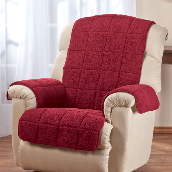 Waterproof Quilted Sherpa Recliner Protector by OakRidge Comforts™ - View 3