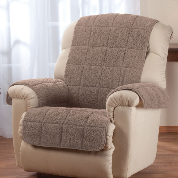 Waterproof Quilted Sherpa Recliner Protector by OakRidge Comforts™ - View 4