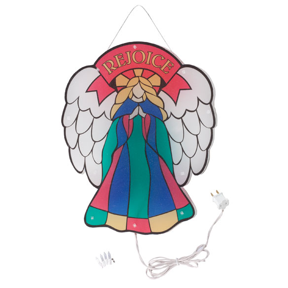 Stained Glass Angel Shimmer Light by Northwoods Illuminations™ - View 2