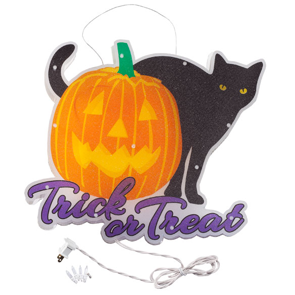 Trick or Treat Black Cat Shimmer Light by Northwoods Illuminations™ - View 2