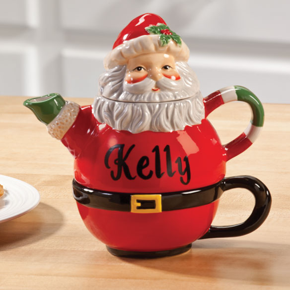 Personalized Santa Teapot for One - View 2