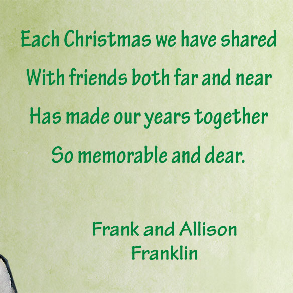 Our Years Together Personalized Christmas Card - Set of 20 - View 4