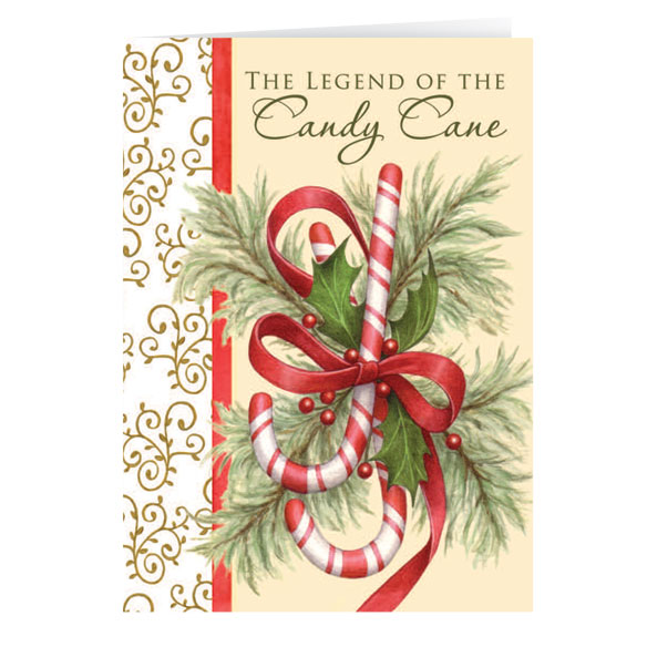The Legend of the Candy Cane Personalized Christmas Card - Set of 20 - View 2