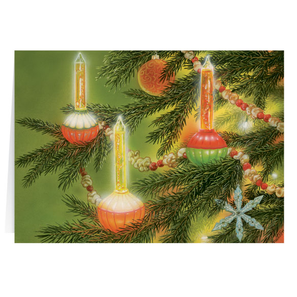 Nostalgic Bubblelight Personalized Christmas Card - Set of 20 - View 2