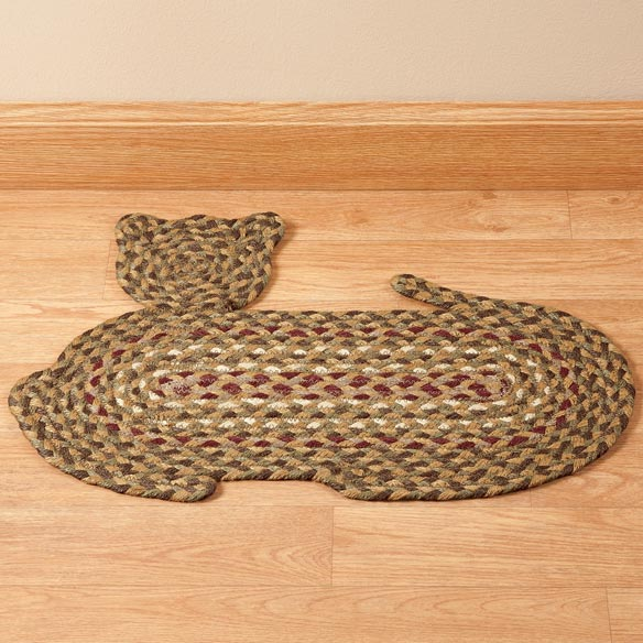 Cat-Shaped Braided Rug - View 2