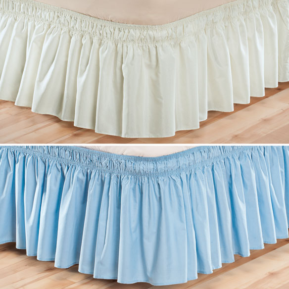 Solid Wrap Around Elastic Bed Skirt by OakRidge Comforts™ - View 3