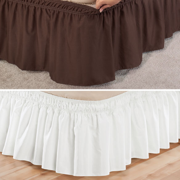 Solid Wrap Around Elastic Bed Skirt by OakRidge Comforts™ - View 4